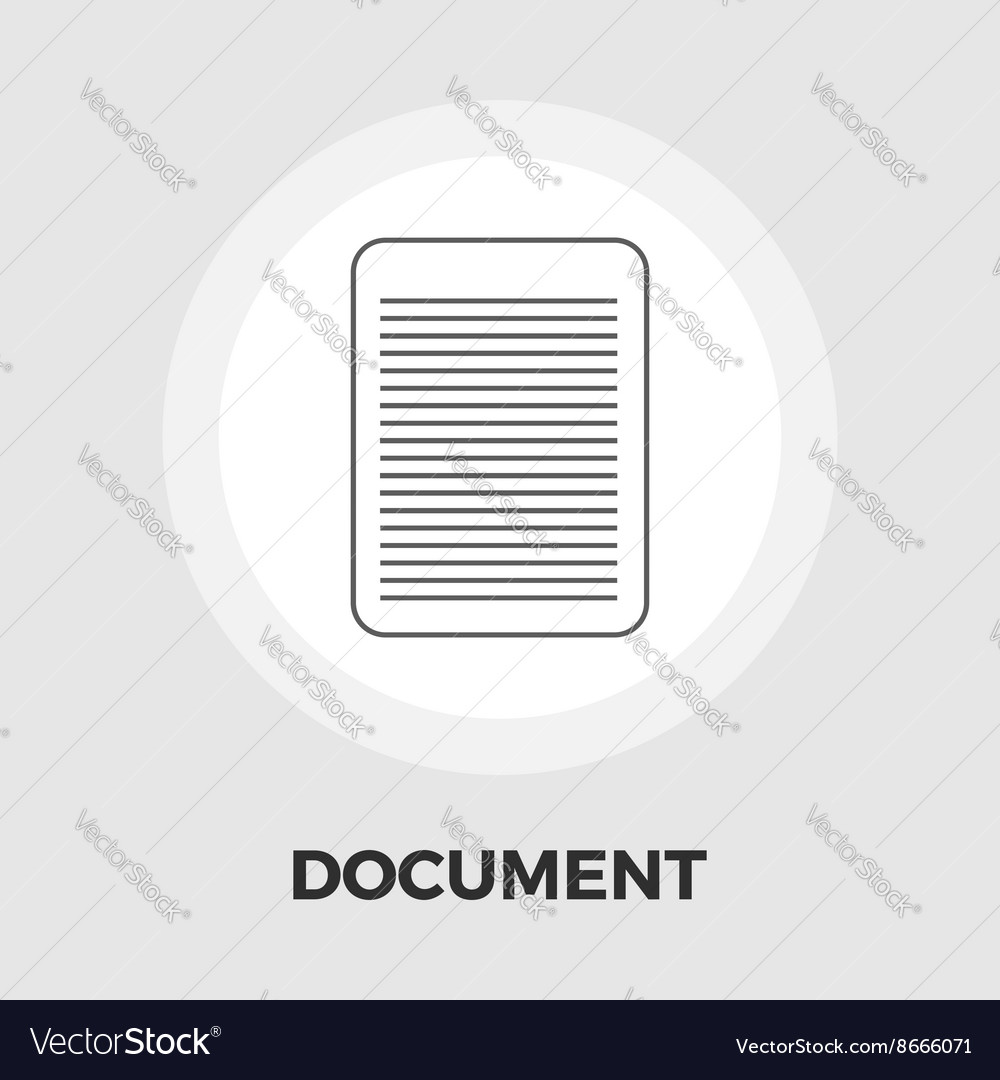 Document flat icon vector