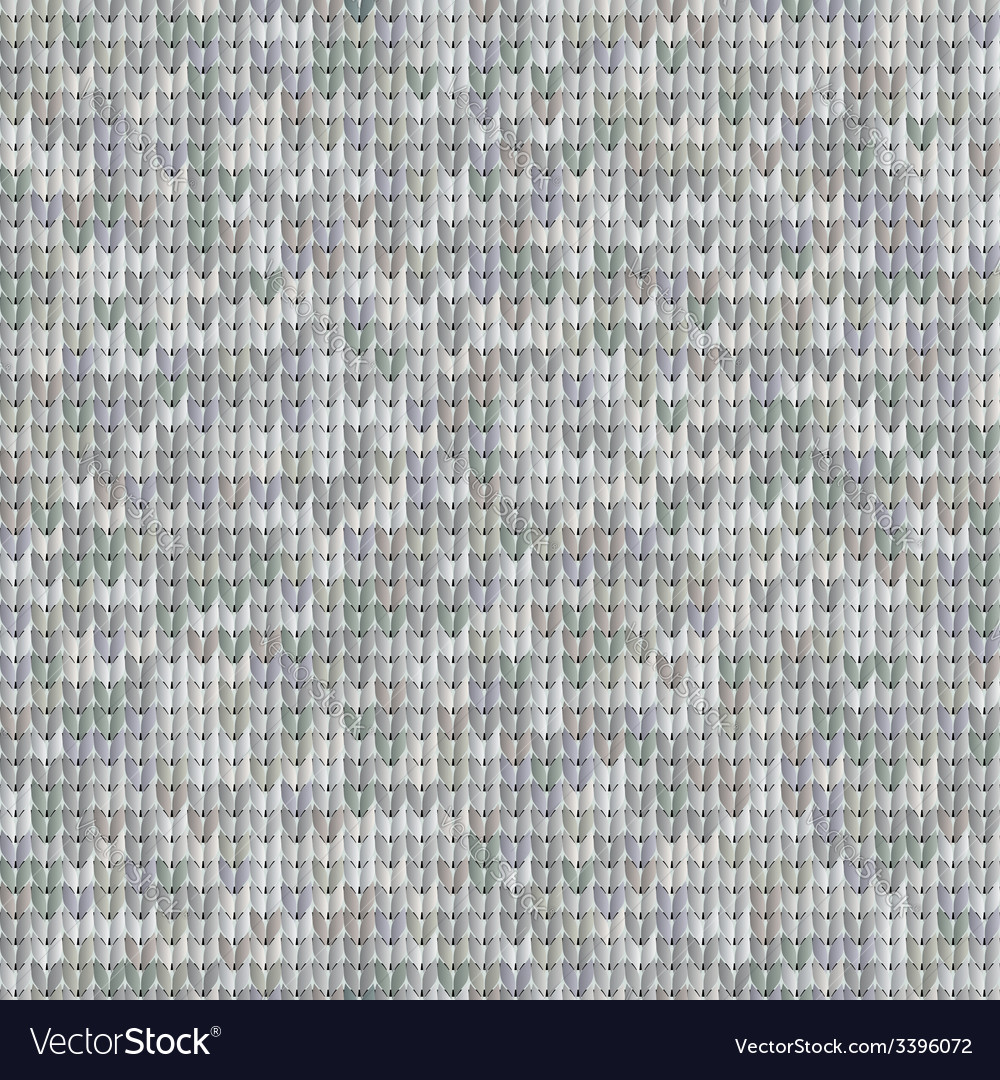 Gray seamless texture of knitted fabrics vector