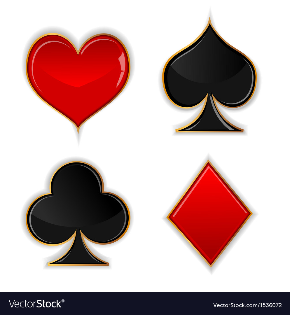 Poker glass button vector