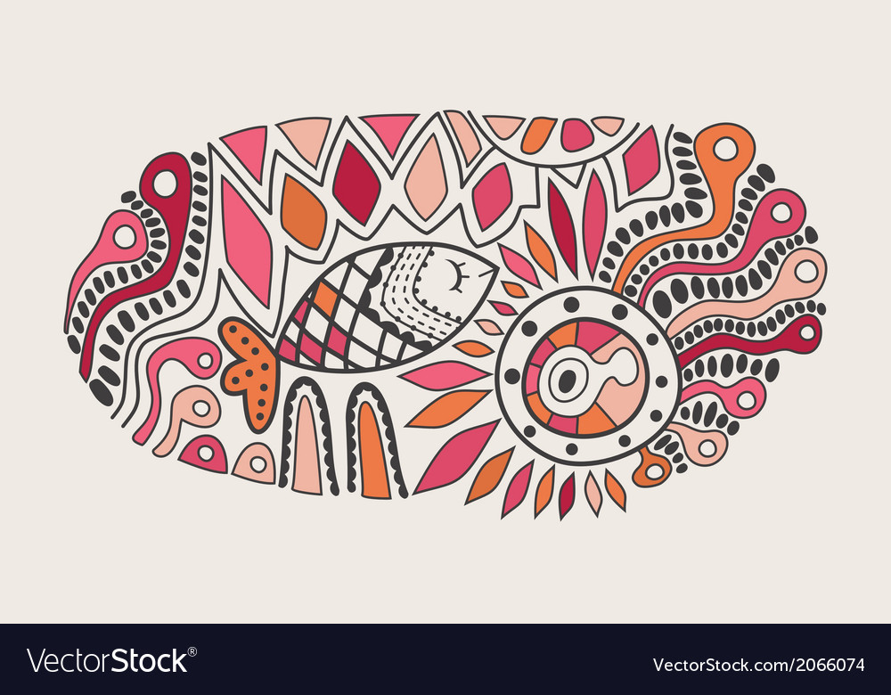 Handdrawn abstract design ethnic abstract vector