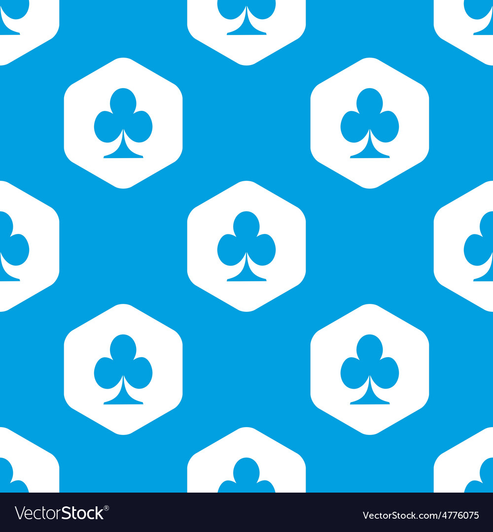 Clubs hexagon pattern vector
