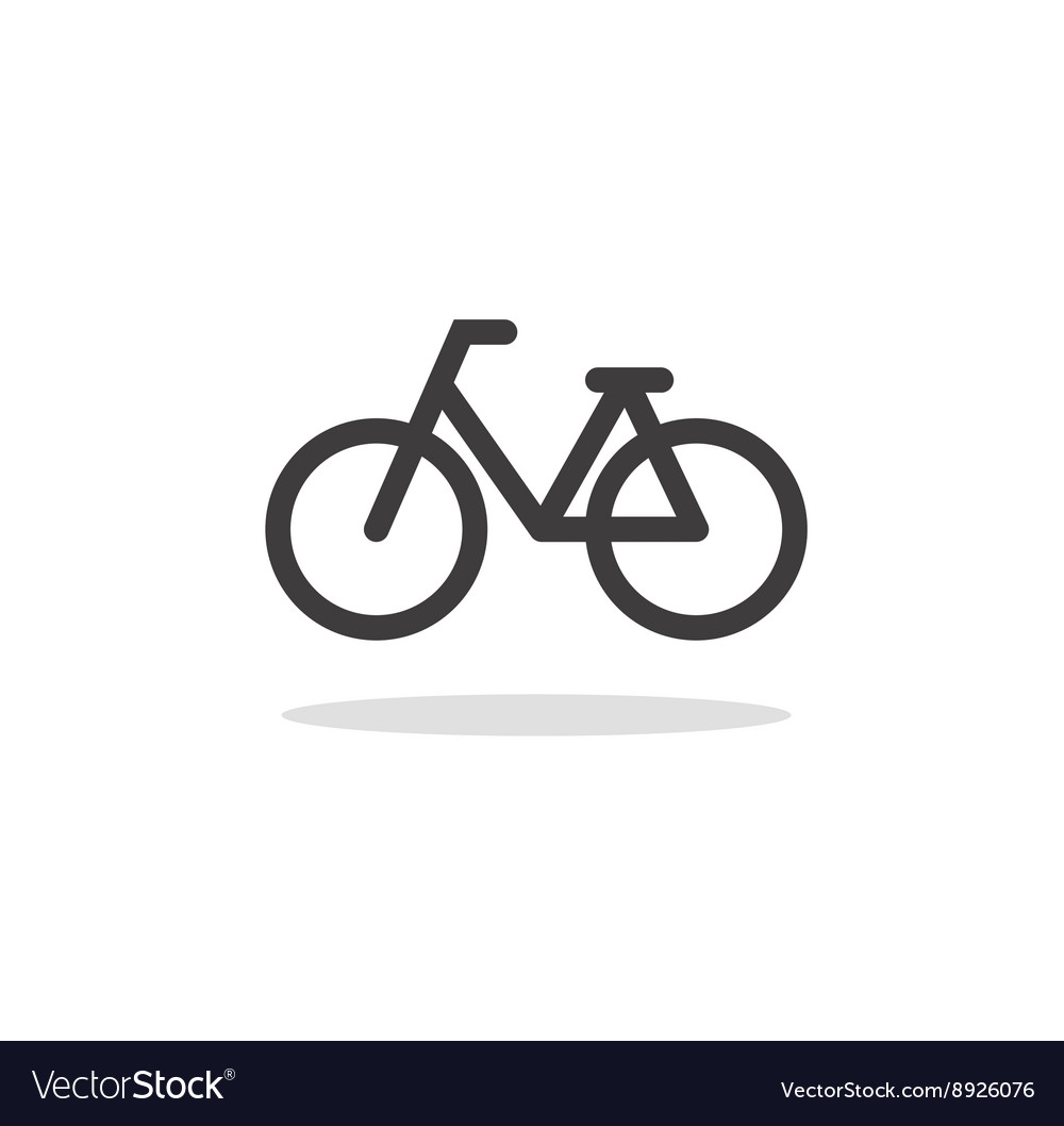 Bicycle icon and symbol vector