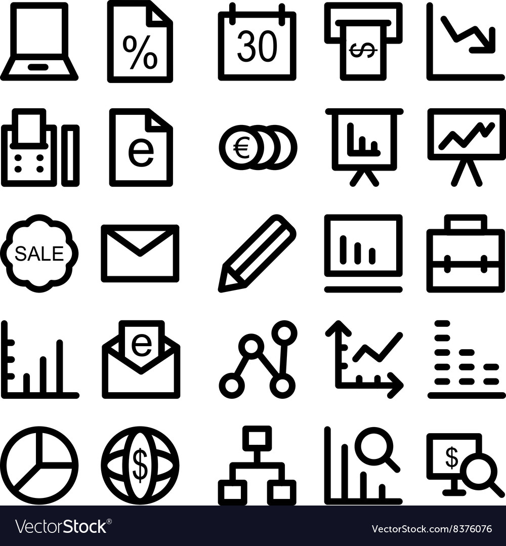 Business icons 5 vector