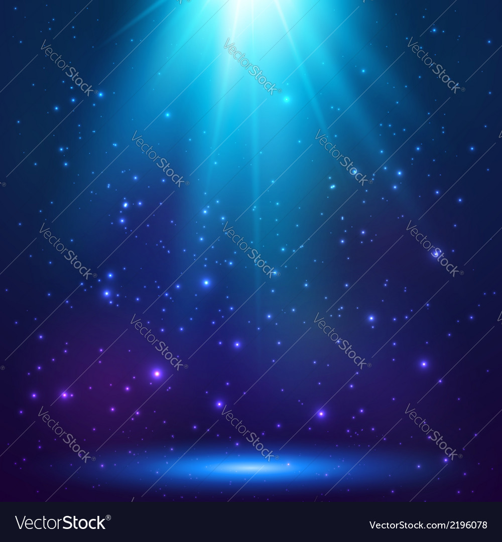 Blue magic light background vector
