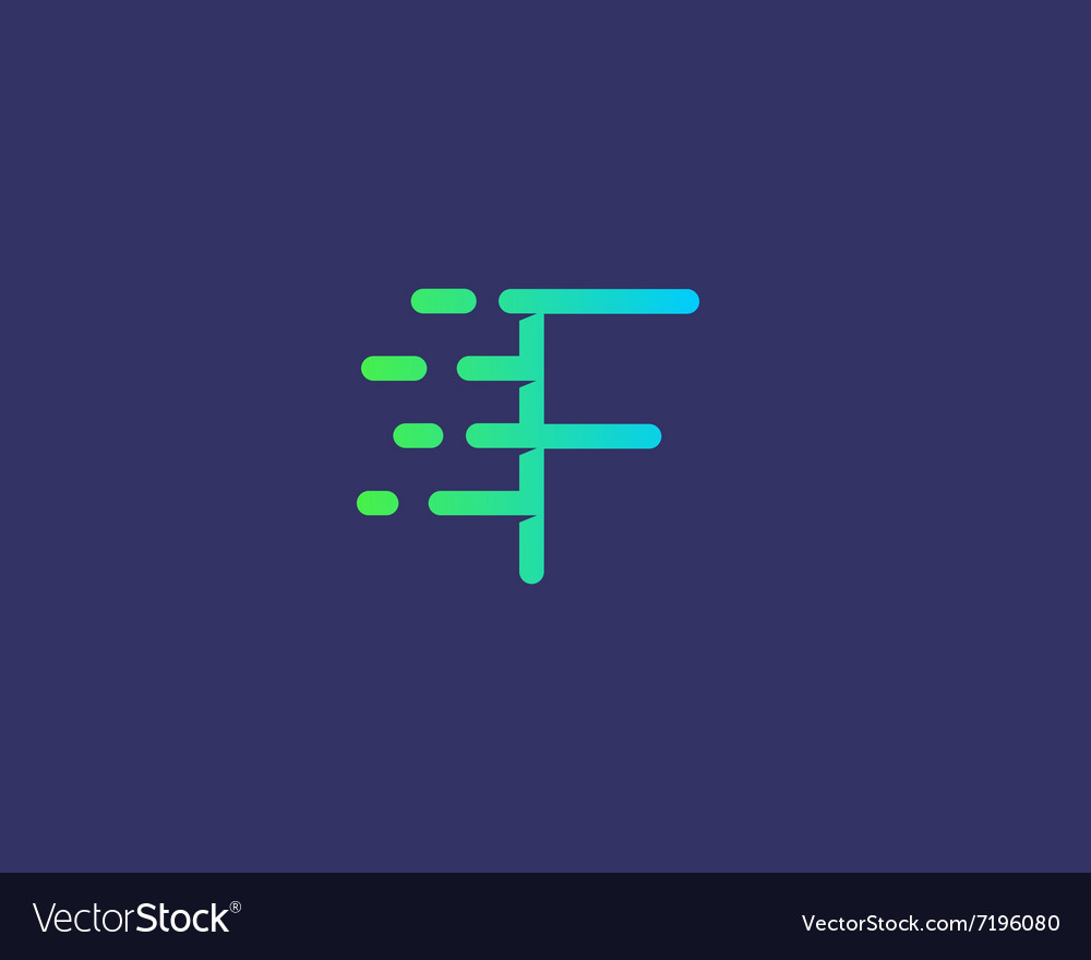 Abstract letter f logo design template dynamic vector