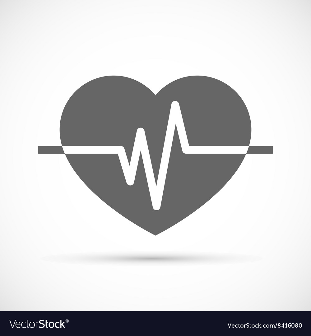 Heart beat icon vector