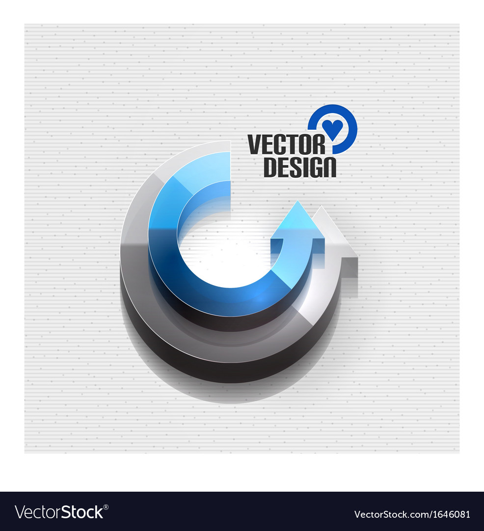 3d glossy arrow circle hitech concept vector