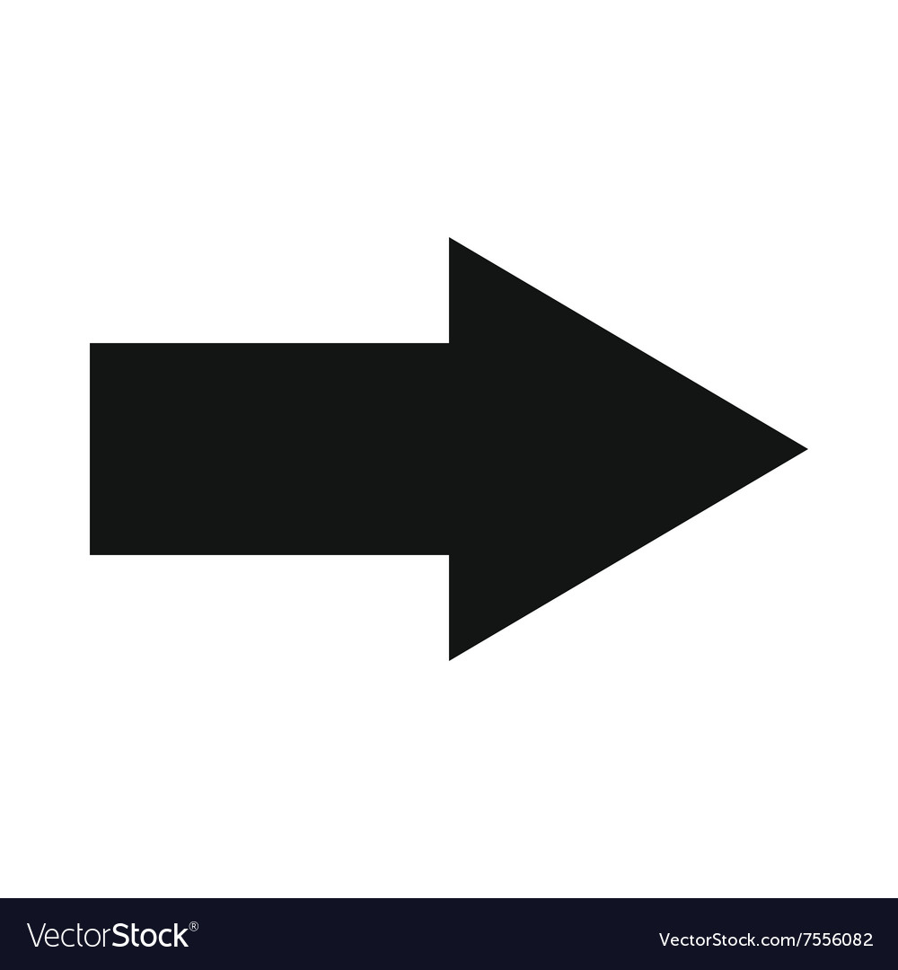 Right arrow black simple icon vector