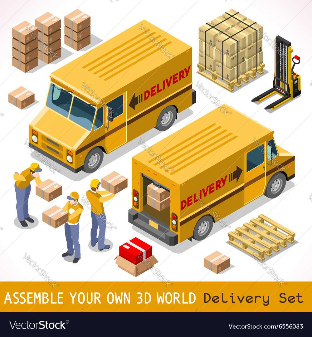 Delivery 06 infographic isometric vector