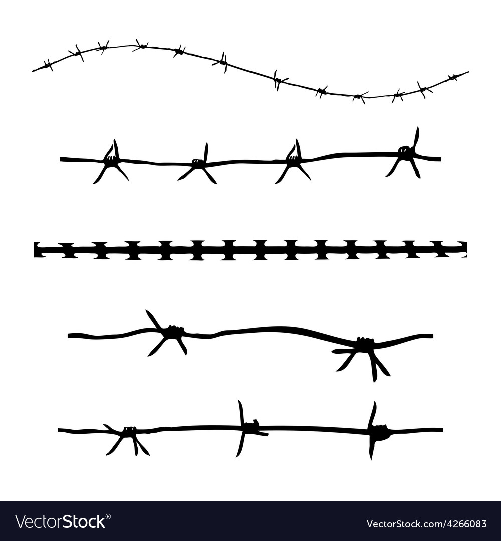 Grunge barbwire vector