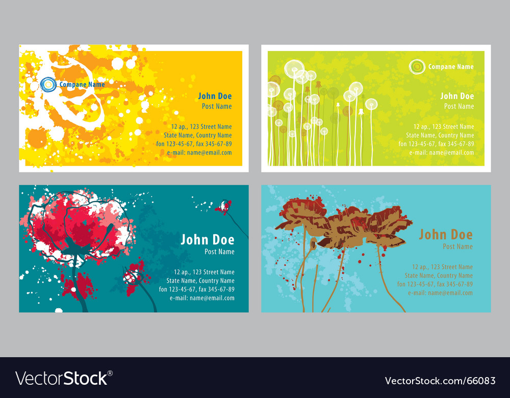 Grunge business cards vector