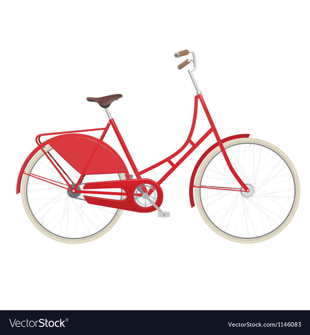 Vintage ladies bicycle vector
