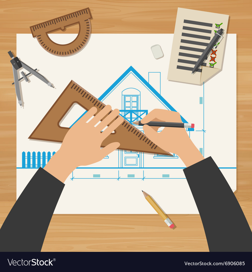 Architect at work vector