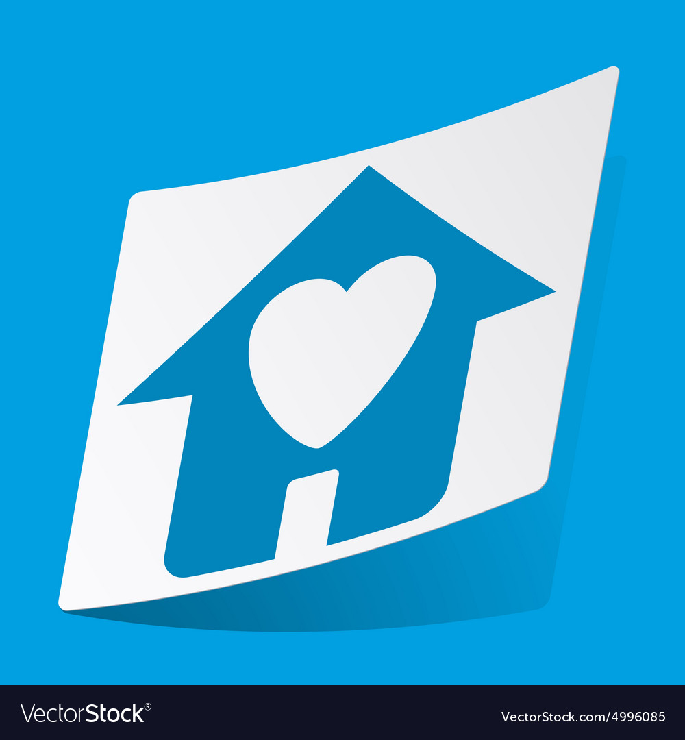Beloved house sticker vector