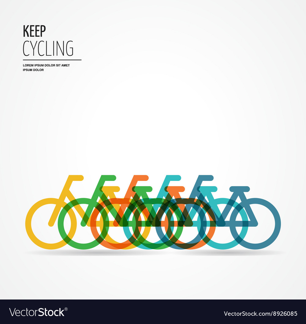 Colorful bicycle poster vector