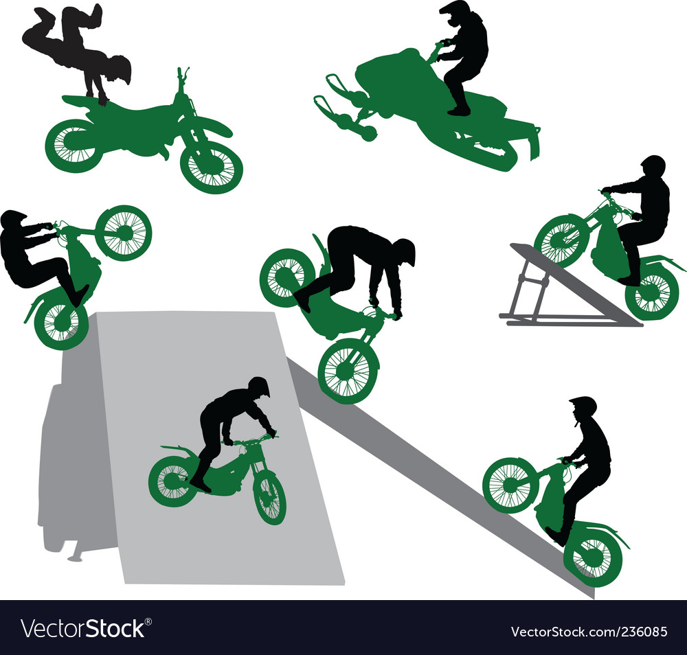 Stunt man vector