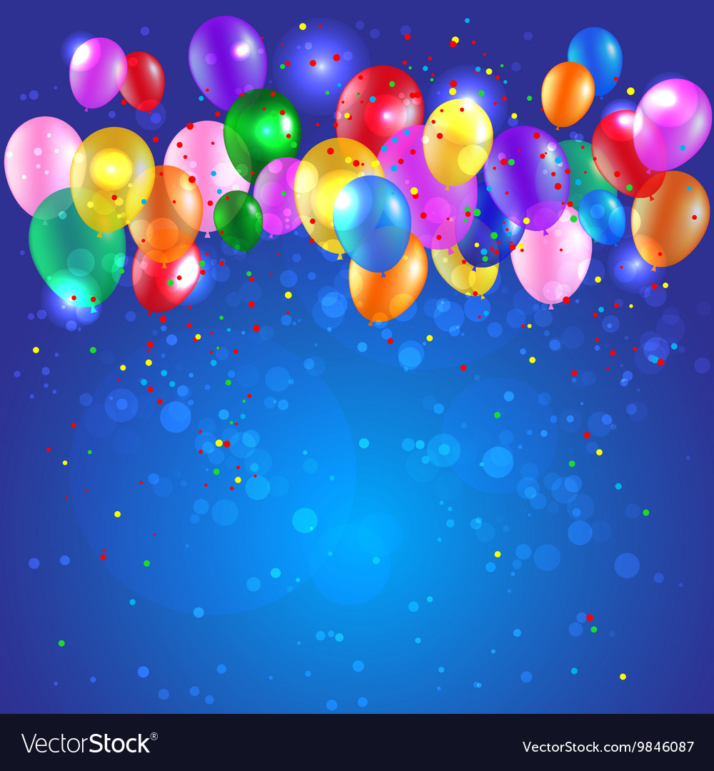 Background with color balloons vector
