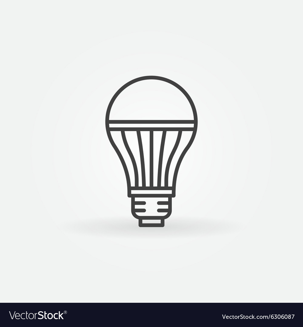 Led lightbulb icon vector