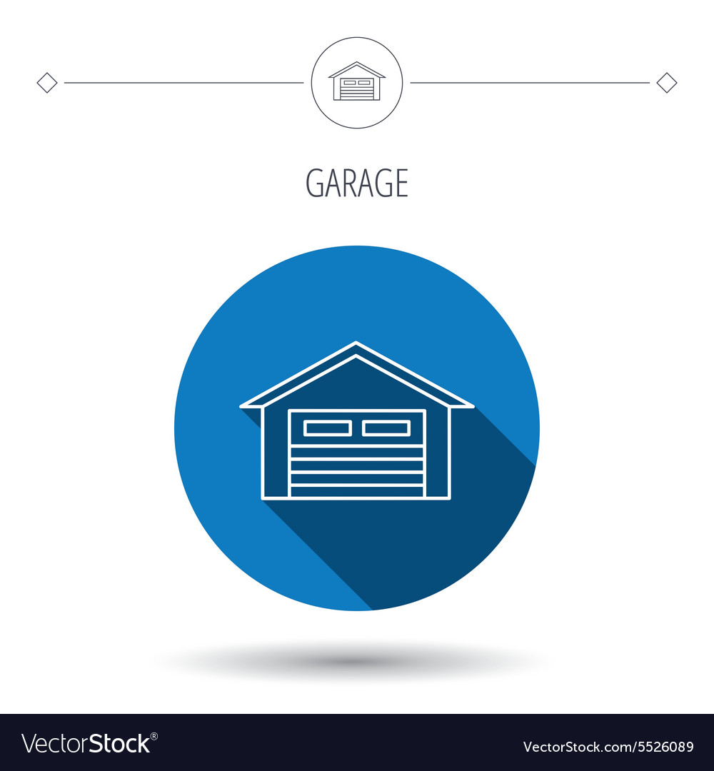 Auto garage icon transport parking sign vector