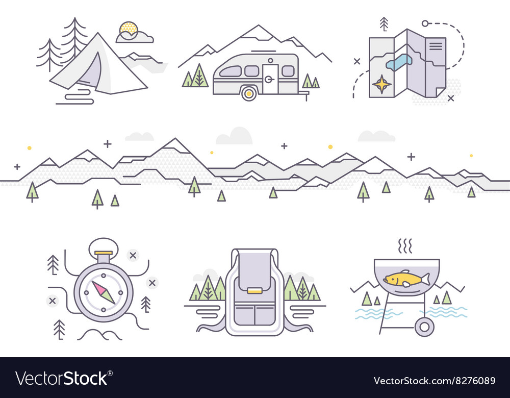 Camping lifestyle vector