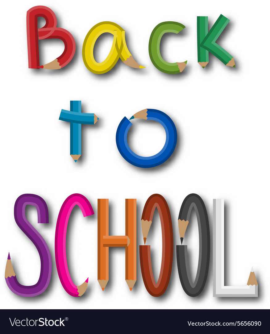 Inscription back to school vector