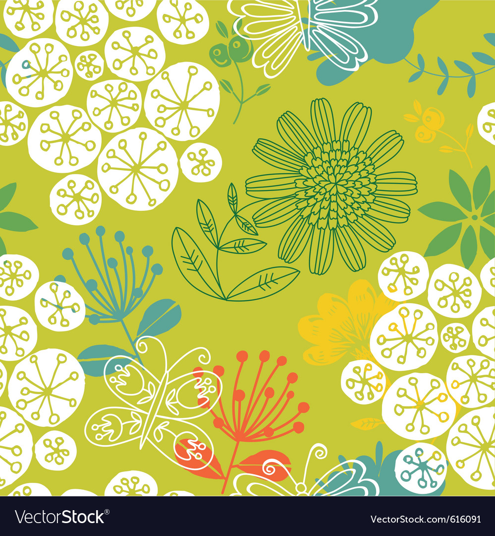 Cutesy scrapbook pattern vector
