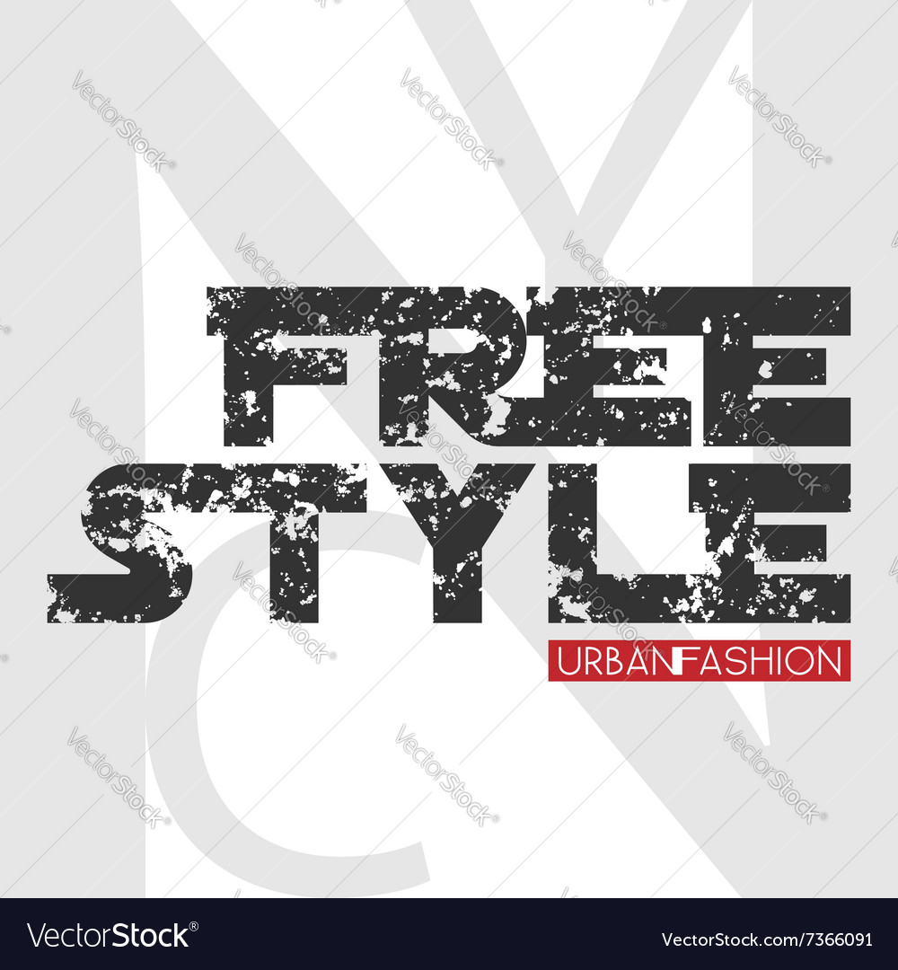 Nyc free style design vector