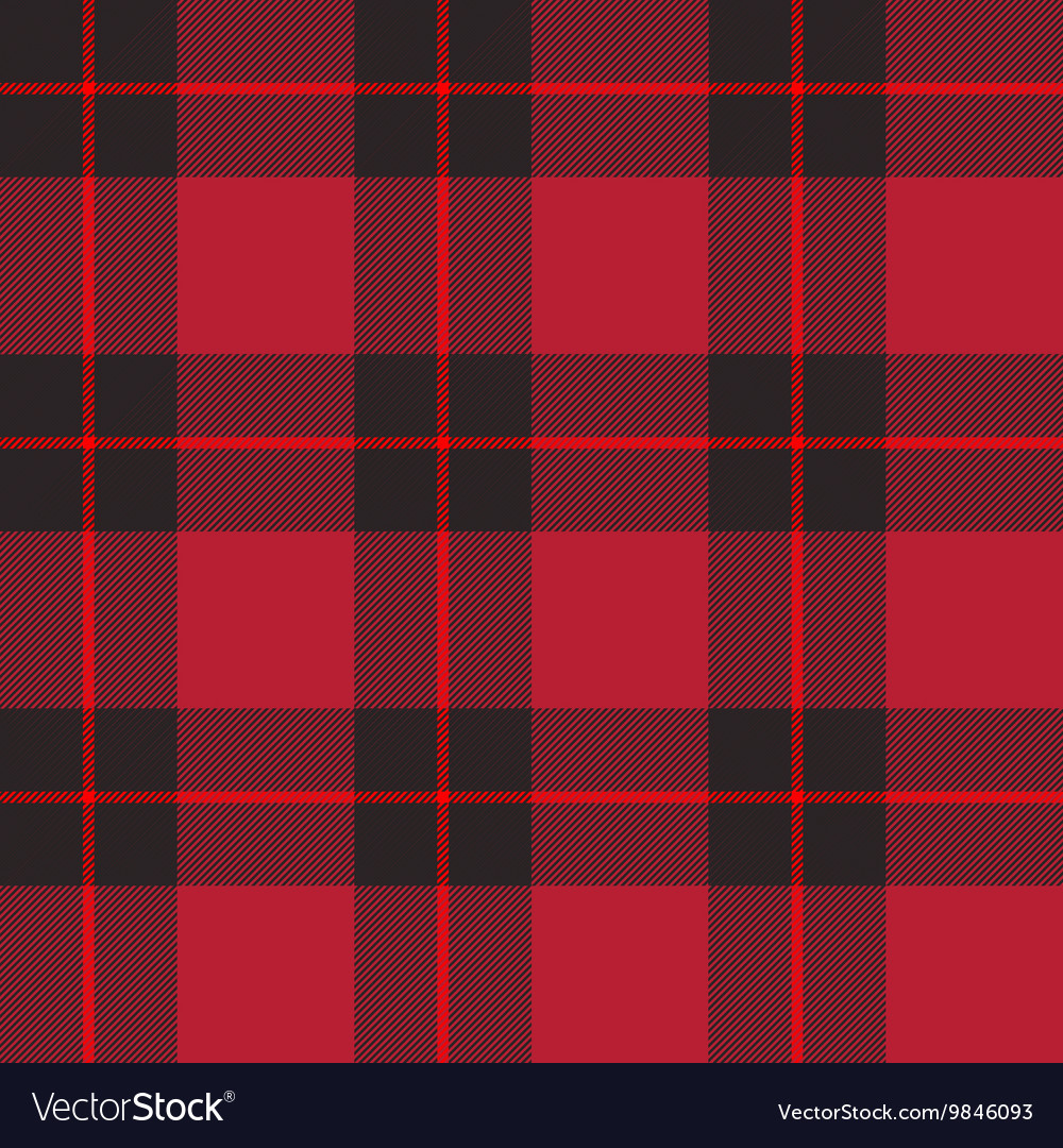 Red tartan plaid vector