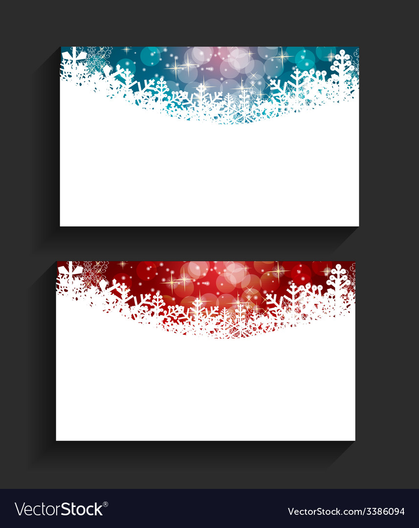 Company christmas business card vector