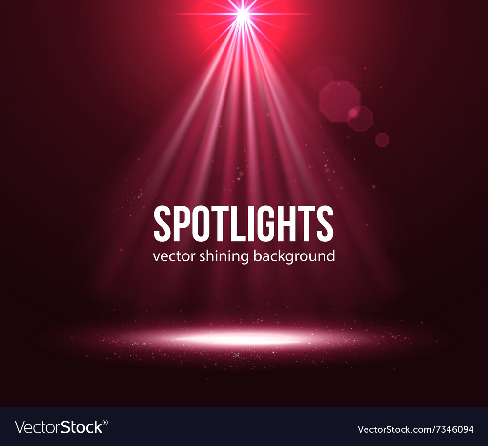 Spotlight effect scene background background in vector
