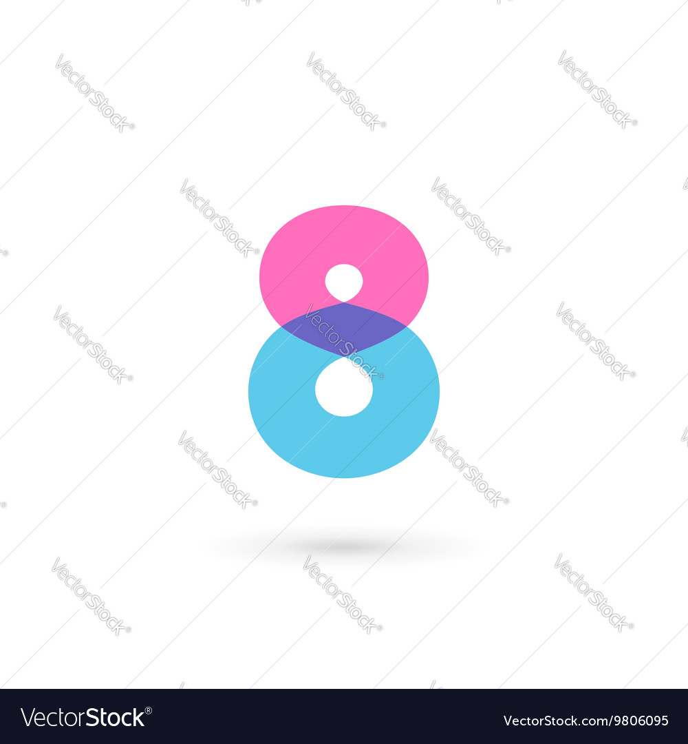 Number 8 logo icon design template elements vector