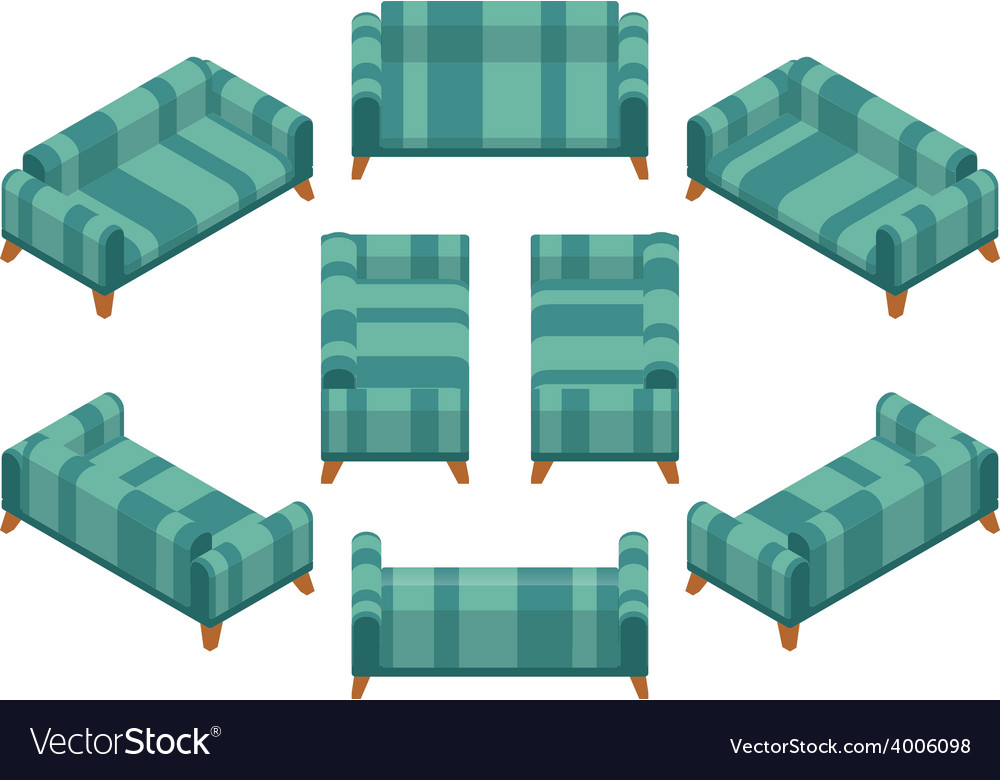 Isometric sofa vector