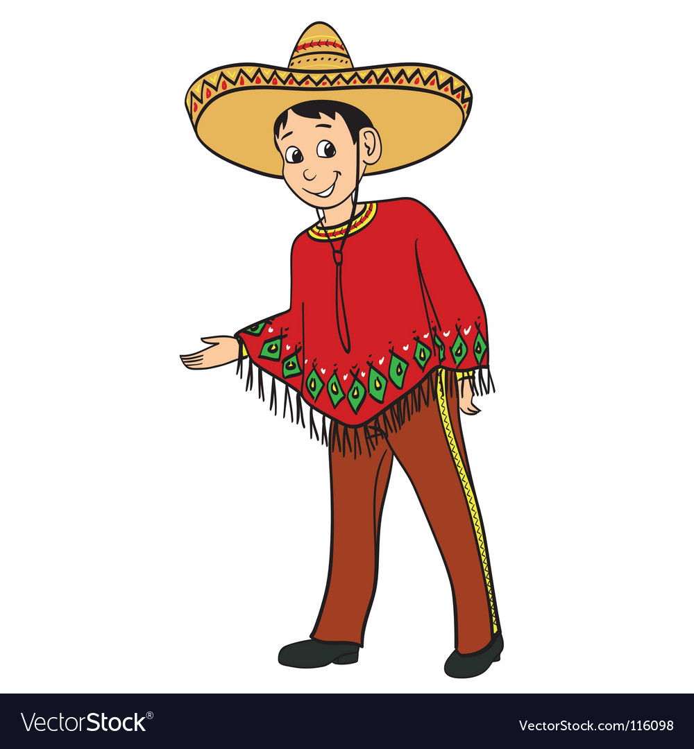 Mexican boy vector