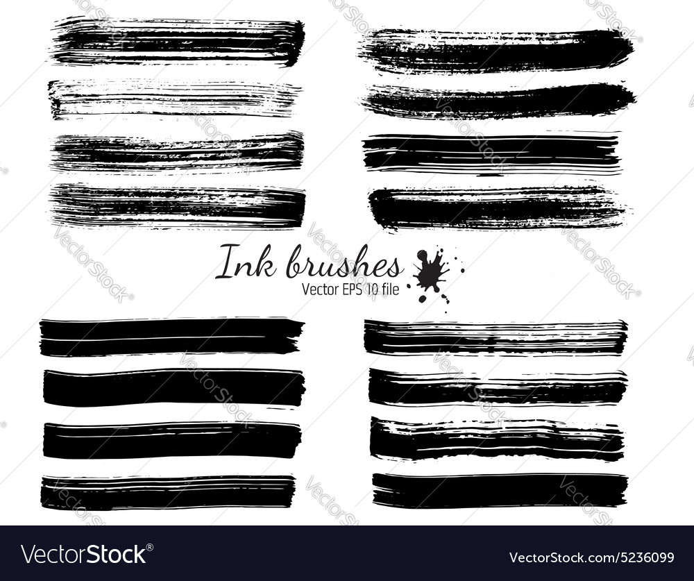 Ink brushes vector