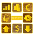 gold finance symbols set isolated vector image