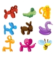 balloon animals toys decoration for kids vector image
