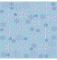 Seamless pattern with snowflakes on blue vector image