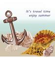 Nautical Marine theme card vector image