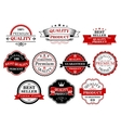 Retro labels and banners for retail business vector image vector image