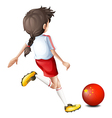 A football player from China vector image vector image