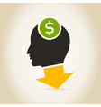 Head an arrow dollar vector image vector image