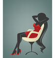 office relaxing girl vector image vector image