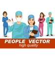 people with doctors surgeons and nurses vector image
