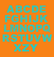 Alphabet with dots vector image