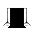 Black photo background isolated on white vector image