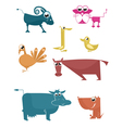 Comic farm animal vector image