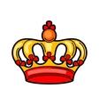 Crown retro tattoo symbol Cartoon old school vector image