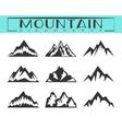 Mountain silhouette set vector image