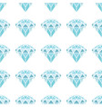 seamless pattern of geometric blue diamonds on vector image