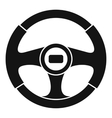 Car steering wheel icon simple style vector image